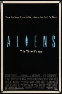 3r079 ALIENS 1sh '86 James Cameron, there are some places in the universe you don't go alone!