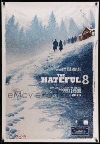 3r803 HATEFUL EIGHT teaser Canadian 1sh '15 Russell, Leigh, Tatum, Jackson, Goggins, Roth, Madsen!