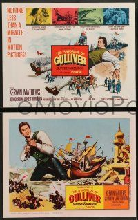 3t019 3 WORLDS OF GULLIVER 8 LCs '60 Ray Harryhausen fantasy classic, cool special effects scenes!