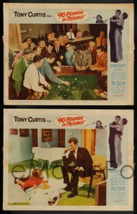 3t020 40 POUNDS OF TROUBLE 8 LCs '63 Tony Curtis has women trouble, Suzanne Pleshette, gambling!