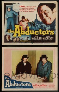 3t023 ABDUCTORS 8 LCs '57 Victor McLaglen, George Macready, history's most amazing crime plot!