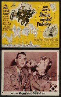 3t024 ABSENT-MINDED PROFESSOR 8 LCs '61 Disney, Flubber, MacMurray in title role, jet!