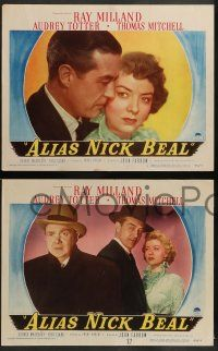 3t029 ALIAS NICK BEAL 8 LCs '49 diabolical Ray Milland encourages Thomas Mitchell to sell his soul!