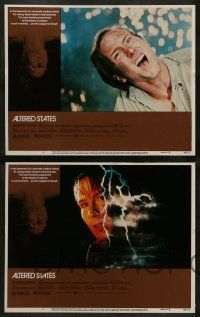 3t032 ALTERED STATES 8 LCs '80 William Hurt, Paddy Chayefsky, Ken Russell, sci-fi horror!