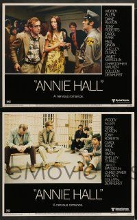 3t010 ANNIE HALL 10 LCs '77 wacky images of star/director Woody Allen in a nervous romance!