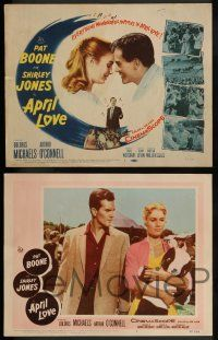 3t035 APRIL LOVE 8 LCs '57 great romantic images of Pat Boone & sexy Shirley Jones!
