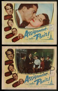 3t036 ASSIGNMENT PARIS 8 LCs '52 Dana Andrews, full-length sexy Marta Toren, George Sanders