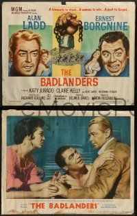 3t040 BADLANDERS 8 LCs '58 images of Alan Ladd, Ernest Borgnine, Katy Jurado, Claire Kelly!