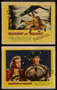 3t041 BAILOUT AT 43,000 8 LCs '57 John Payne, Karen Steele, the rocket-hot story of human bullets!