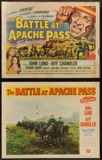 3t044 BATTLE AT APACHE PASS 8 LCs '52 Native American Jeff Chandler as Cochise, Susan Cabot as Nono