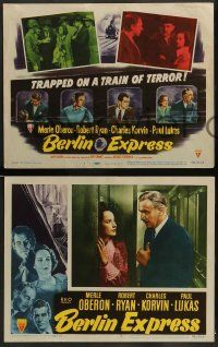 3t047 BERLIN EXPRESS 8 LCs '48 Merle Oberon & Robert Ryan, directed by Jacques Tourneur!