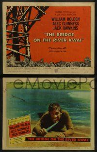 3t052 BRIDGE ON THE RIVER KWAI 8 LCs '58 William Holden, Alec Guinness, David Lean WWII classic!