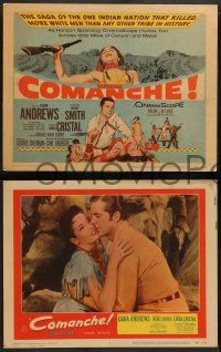 3t064 COMANCHE 8 LCs '56 Dana Andrews, Linda Cristal, Native Americans Henry Brandon & Kent Smith!