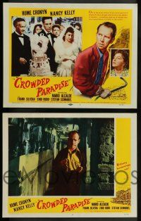 3t067 CROWDED PARADISE 8 LCs '56 Hume Cronyn, Nancy Kelly, a daring motion picture!