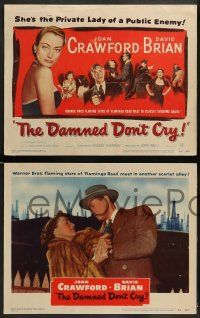 3t070 DAMNED DON'T CRY 8 LCs '50 Joan Crawford, David Brian, Steve Cochran, Kent Smith