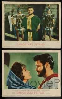 3t071 DAMON & PYTHIAS 8 LCs '62 Il Tiranno di Siracusa, world-famed story of friendship and fury!