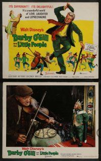 3t073 DARBY O'GILL & THE LITTLE PEOPLE 8 LCs '59 Disney, Sean Connery, it's leprechaun magic!