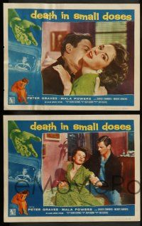 3t076 DEATH IN SMALL DOSES 8 LCs '57 the rough tough guys and dolls, Peter Graves!