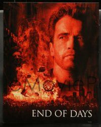 3t011 END OF DAYS 10 LCs '99 cool images of Arnold Schwarzenegger, Robin Tunney, Gabriel Byrne!