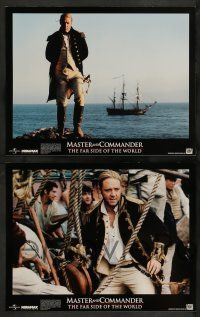 3t012 MASTER & COMMANDER 10 LCs '03 Russell Crowe, Paul Bettany, Peter Weir, Far Side of the World!