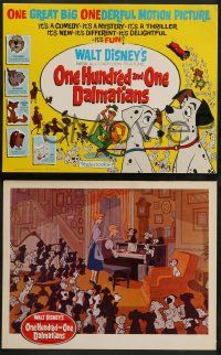 3t015 ONE HUNDRED & ONE DALMATIANS 9 LCs '61 most classic Walt Disney canine family cartoon!