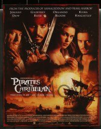 3t005 PIRATES OF THE CARIBBEAN 14 LCs '03 Johnny Depp as Jack Sparrow, Keira Knightley, Bloom!