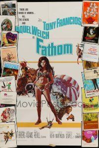 3w007 LOT OF 48 FOLDED ONE-SHEETS '60s-70s great images from a variety of different movies!