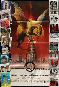 3w009 LOT OF 46 FOLDED ONE-SHEETS '70s-80s great images from a variety of different movies!