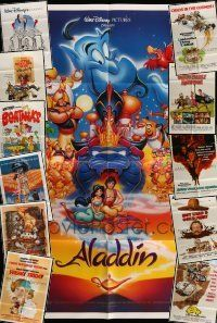 3w033 LOT OF 12 FOLDED DISNEY ONE-SHEETS '70s-90s images from animated & live action movies!