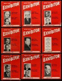 3w038 LOT OF 32 EXHIBITOR 1967 EXHIBITOR MAGAZINES '67 great images & information!