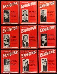 3w042 LOT OF 23 EXHIBITOR 1964 EXHIBITOR MAGAZINES '64 great images & information!