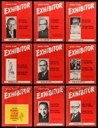 3w043 LOT OF 22 EXHIBITOR 1965 EXHIBITOR MAGAZINES '65 great images & information!