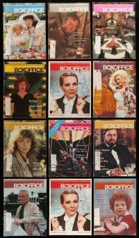 3w044 LOT OF 22 BOX OFFICE 1980S EXHIBITOR MAGAZINES '80s filled with great images & information!
