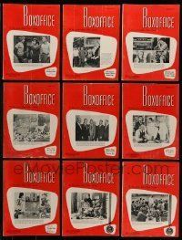 3w045 LOT OF 22 BOX OFFICE 1961 EXHIBITOR MAGAZINES '61 filled with great images & information!