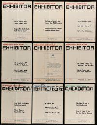 3w046 LOT OF 21 EXHIBITOR 1969 EXHIBITOR MAGAZINES '69 information about international movies!