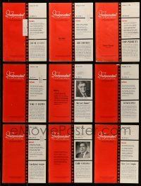 3w047 LOT OF 20 INDEPENDENT FILM JOURNAL EXHIBITOR MAGAZINES '69-78 great images & information!
