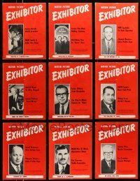 3w049 LOT OF 19 EXHIBITOR 1967 EXHIBITOR MAGAZINES '67 filled with great images & information!