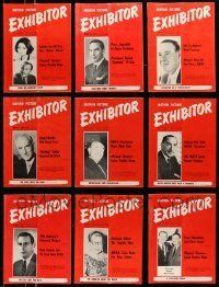 3w050 LOT OF 19 EXHIBITOR 1966 EXHIBITOR MAGAZINES '66 filled with great images & information!
