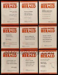3w051 LOT OF 18 MOTION PICTURE HERALD EXHIBITOR MAGAZINES '50s-60s great movie images & info!