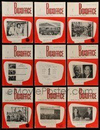 3w052 LOT OF 18 BOX OFFICE 1970 EXHIBITOR MAGAZINES '70 filled with great images & information!