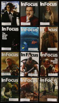 3w054 LOT OF 17 IN FOCUS EXHIBITOR MAGAZINES '00s filled with great images & information!