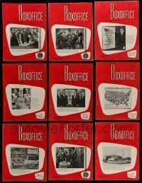 3w055 LOT OF 17 BOX OFFICE 1960 EXHIBITOR MAGAZINES '60 filled with great images & information!