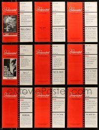 3w057 LOT OF 16 INDEPENDENT FILM JOURNAL 1975 EXHIBITOR MAGAZINES '75 great images & information!