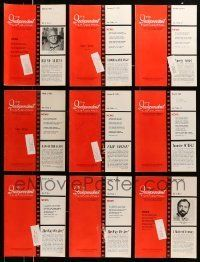 3w059 LOT OF 16 INDEPENDENT FILM JOURNAL 1973 EXHIBITOR MAGAZINES '73 great images & information!