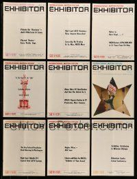 3w060 LOT OF 16 EXHIBITOR 1968 EXHIBITOR MAGAZINES '68 information about international movies!