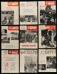 3w061 LOT OF 15 MOTION PICTURE HERALD 1970 EXHIBITOR MAGAZINES '70 great images & information!
