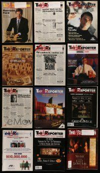 3w063 LOT OF 15 HOLLYWOOD REPORTER EXHIBITOR MAGAZINES '90s-00s great images & information!