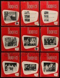 3w064 LOT OF 15 BOX OFFICE 1956 EXHIBITOR MAGAZINES '56 filled with great images & information!