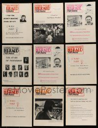 3w065 LOT OF 14 MOTION PICTURE HERALD 1972 EXHIBITOR MAGAZINES '72 great images & information!