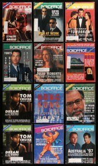 3w068 LOT OF 14 BOX OFFICE 1995-97 EXHIBITOR MAGAZINES '95-97 great images & information!